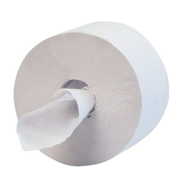 Centre Feed Toilet Rolls 2ply 200m White - 6 Pack