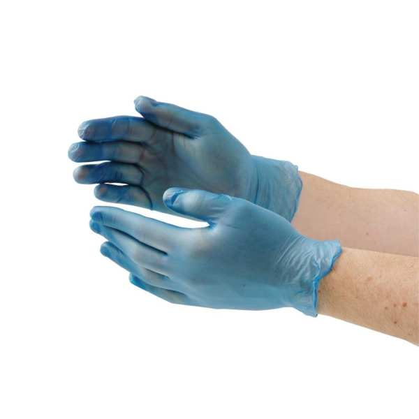Vinyl Gloves - Powder Free Blue - Extra Large - Box 100
