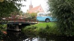 WSM bus uit 1958 tijdens de opening van de tentoonstelling.
