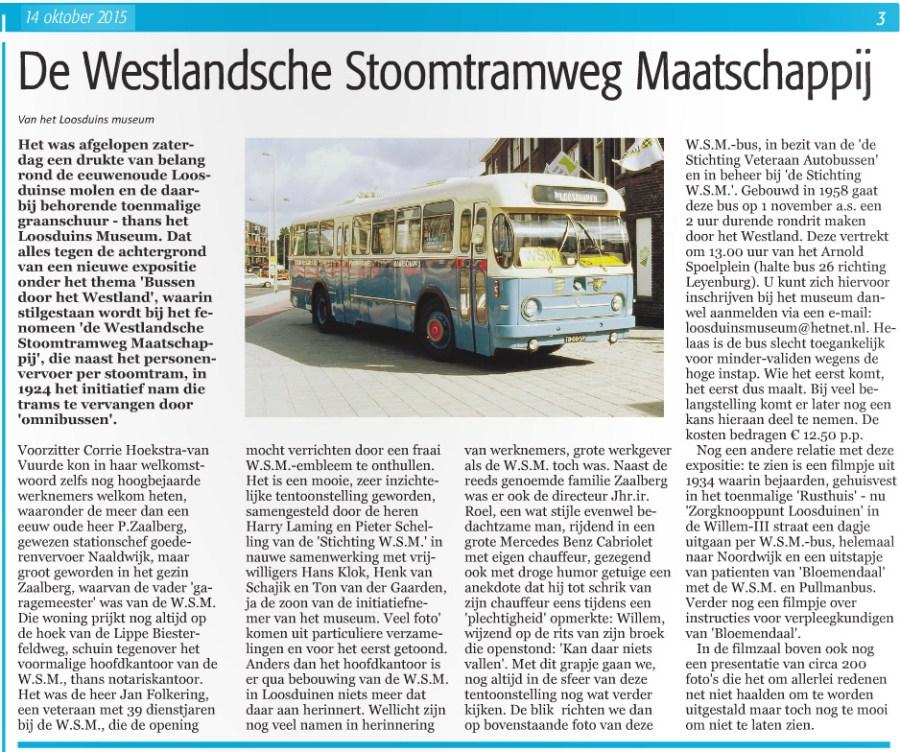 WSM in Loosduinse Krant
