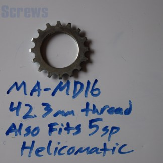 "Maillard 700 Freewheel ""MD"" 5 speed 16T threaded Cog, 5 speed Helicomatic"