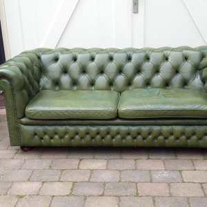 Chesterfield bank groen