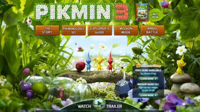 Pikmin 3 Old Website