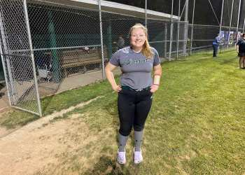 Wyoming East's Andrea Laxton after a big night at the plate.