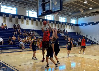 Greater Beckley's Jordan McGinnis goes up for a layup against Greenbrier West at the Shady Spring Shootout on July 17. (Tyler Jackson)
