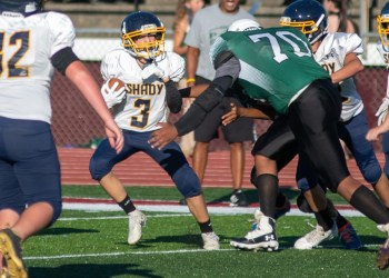 File Photo - A Shady Spring player eludes a tackle against Park when the two teams played on Sept. 2. (Heather Belcher/Lootpress)
