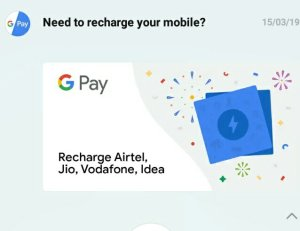 Google Pay Offers 2019 -Scratch Card Upto Rs 100 On Mobile
