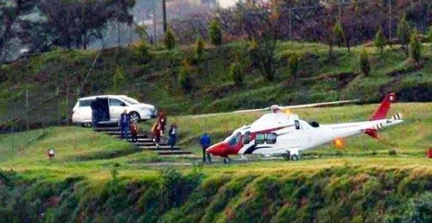 David Korenfeld helicóptero