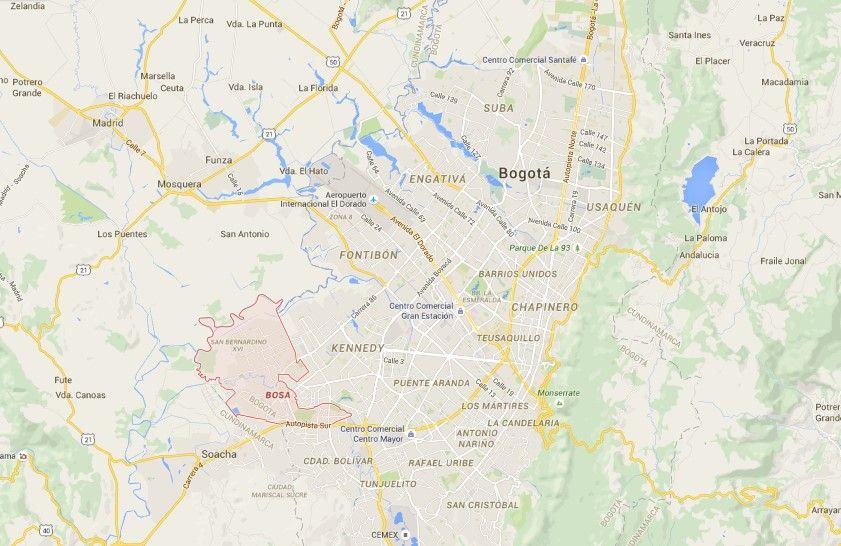 Bosa, Colombia. Foto de Google Maps