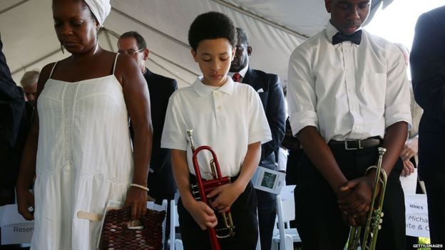 El desastre provocado por el Huracán Katrina fue recordado con respeto y tristeza. Foto de BBC