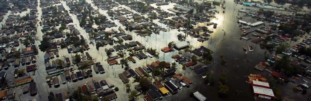 Katrina dejó a Nueva Orleans cubierta por agua. Foto de History.com