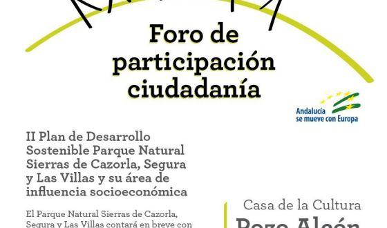 Foro participativo para el II Plan de Desarrollo Sostenible del Parque Natural De Cazorla, Segura y Las Villas