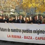 Alcaldes de Granada, Almería y Jaén exigen en Madrid la línea eléctrica de gran capacidad