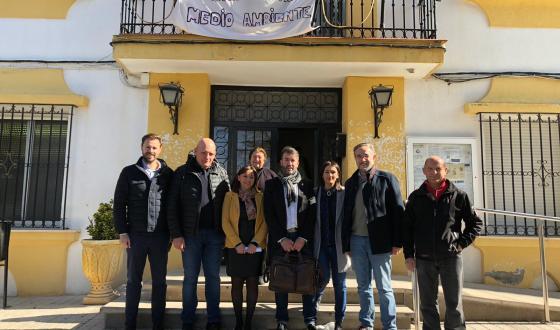 Parlamentarios andaluces del Psoe en contra de la macrogranja de Dehesas de Guadix