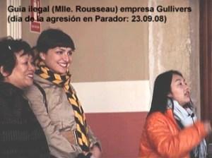 Mlle-Rousseau-guial-ilegal-dia-agresion-al-periodista.-Parador-de-Cuenca-23.08.09