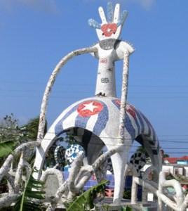 """Escultura a los """"Cinco Héroes Cubanos"""""""