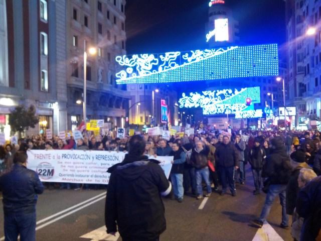 En la calle contra la Represión y las Leyes Mordaza