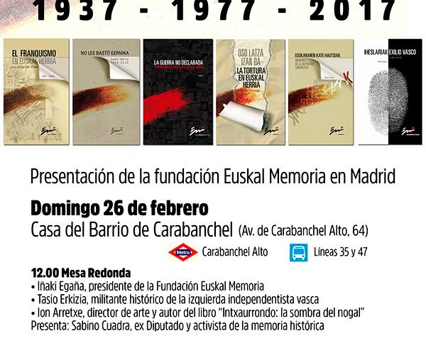 Euskal Memoria Fundazioa en Madriz
