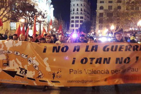 Valencia en respuesta a la conferencia de la OTAN en Munich