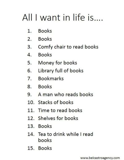 all i want is books