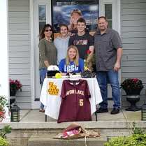Molly Andrejcak surrounded by her family