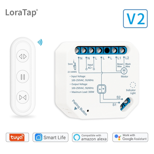 tuya smart life wifi curtain blind switch module with remote
