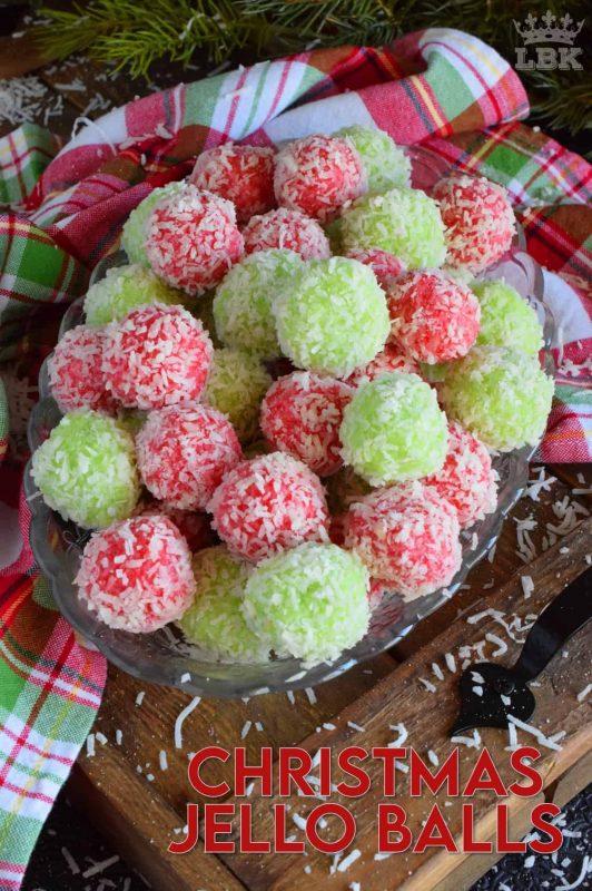 Mom's Christmas Jello Balls