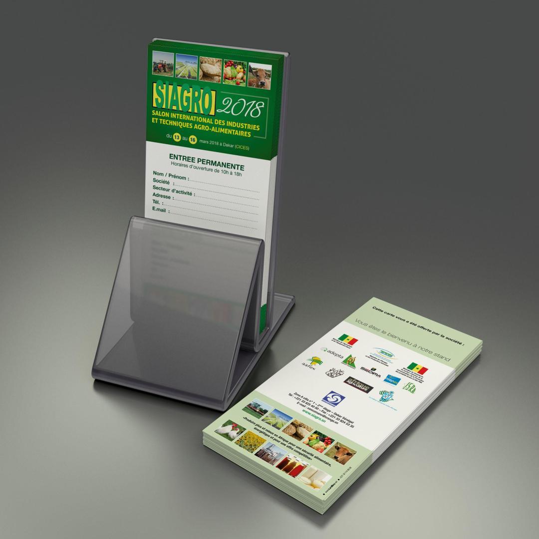 Carte Visiteur - SIAGRO 2018