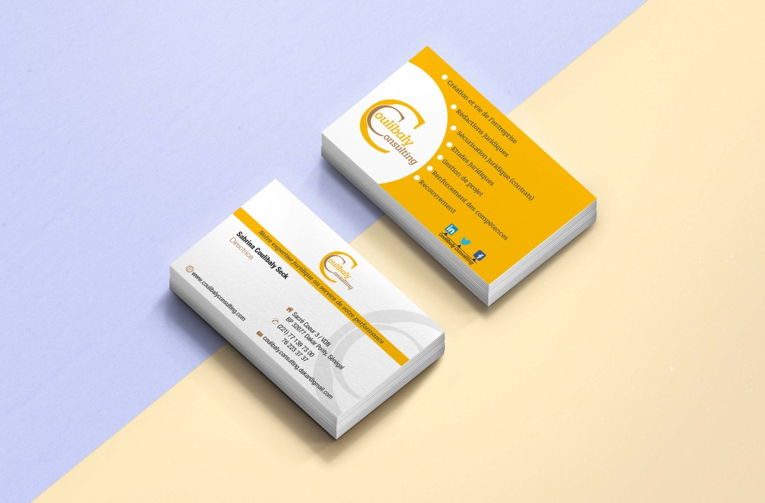 Business card  - COULIBALY CONSULTING