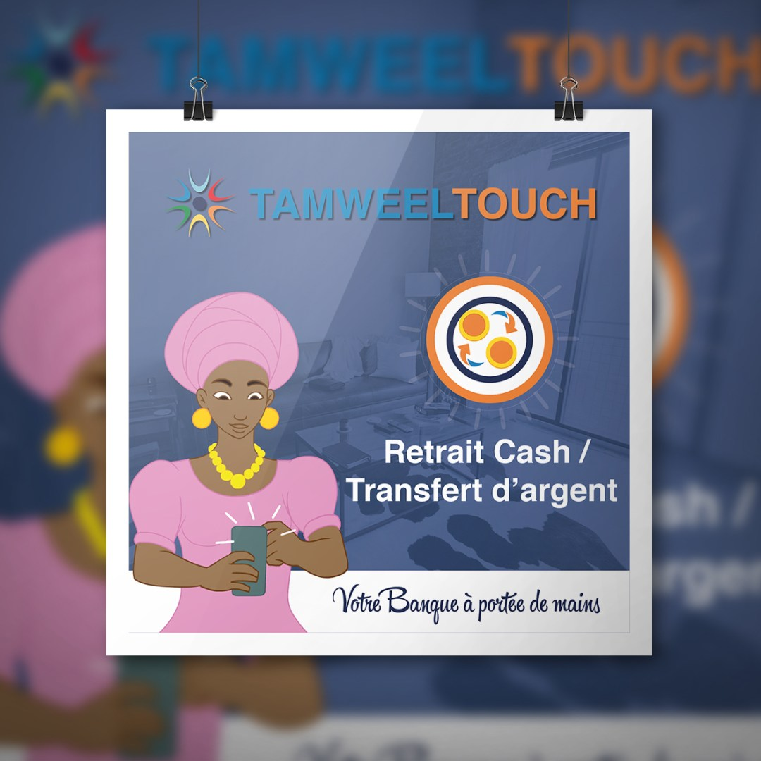 Affiche - Retrait_cash_transfert - TAMWEEL