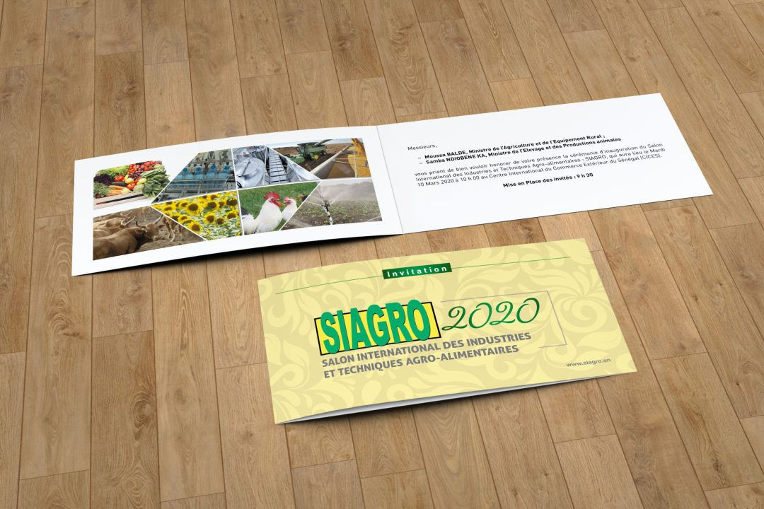 Plaquette de l'évènement SIAGRO 2018