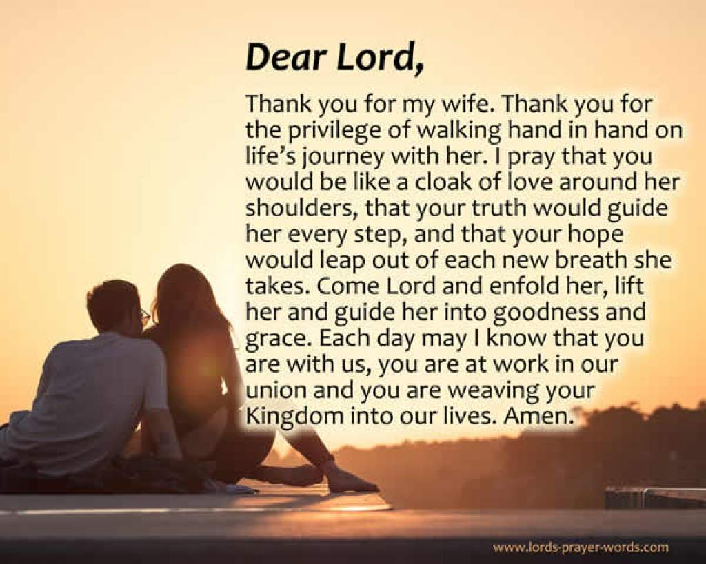 7 Prayers for my Wife - with Morning & Goodnight Prayers