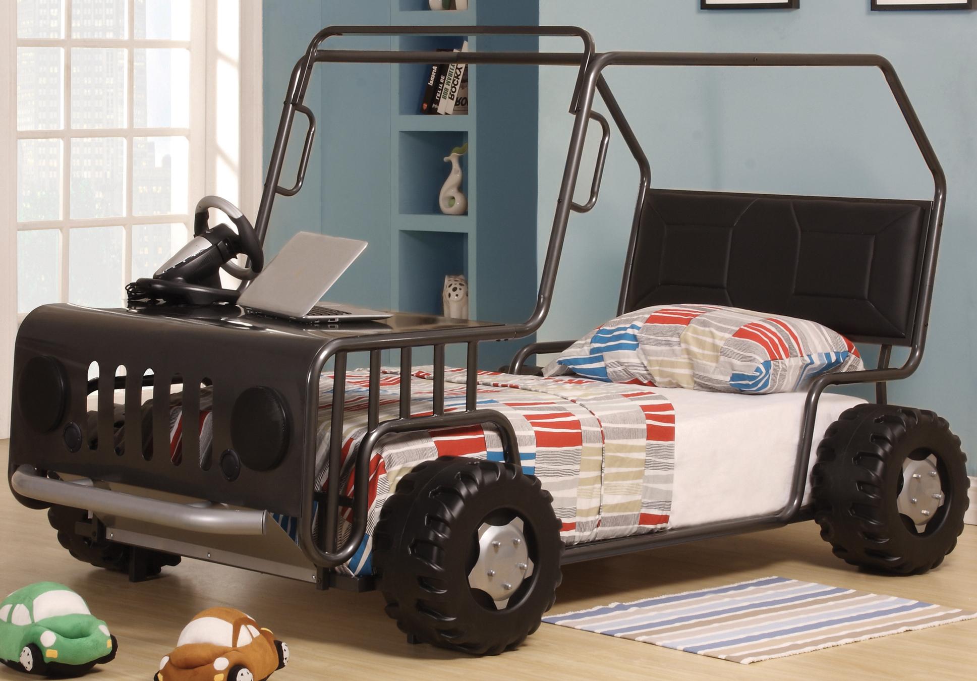 WRANGLER GUNMETAL KIDS BED FRAME JEEP CAR BED BRAND NEW