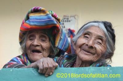 Poor but happy, sisters, from Chua Chajil, Santa Catarina Ixtahuacán