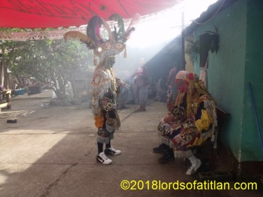 In most towns the location of the cofradia changes every year or two. However, in Patzún, the saints remain permanently housed in the home of Felix Zanik, the alcalde (mayor) of the cofradia of San Bernardino. Here on May 19th they perform the Dance of the Toritos, but not to honor San Bernardino;  instead to celebrate San Pascual.