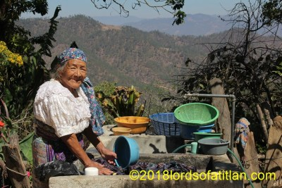 This woman from Canton Quivalá also enjoys the luxury of potable water right in her home.