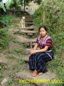 Girl with dog, San Marcos la Laguna