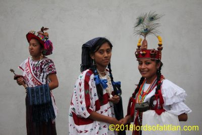 Again, to illustrate the linguistic diversity of Guatemala, we have represented (left to right) tzutujil, kaqchiquel, and poqomam.