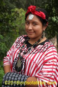 Indigenous queen of San Lucas Tolimán and therefore a kaqchiquel speaker.
