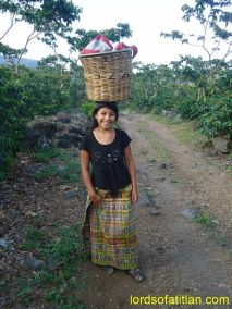 Eugenia at the end of a work day, Finca Pampojilá