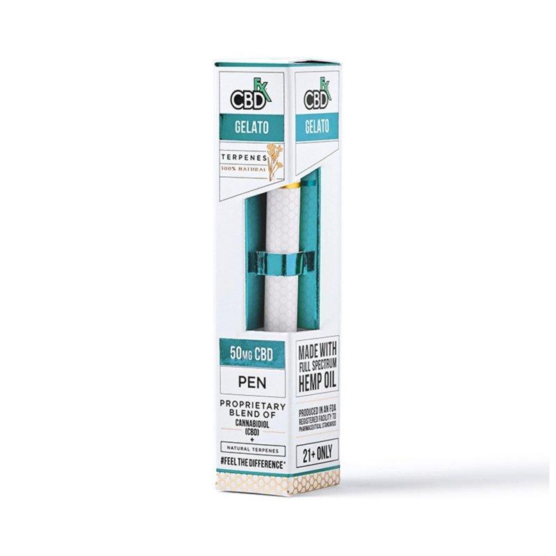 CBDfx CBD Terpenes Vape Pens with 50mg broad-spectrum CBD and Gelato terpenes