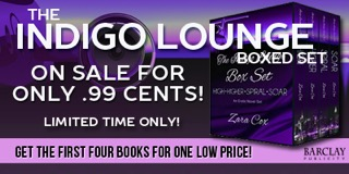99 cent Sale & Giveaway:  The INDIGO LOUNGE BOXED SET (1-4) By Zara Cox