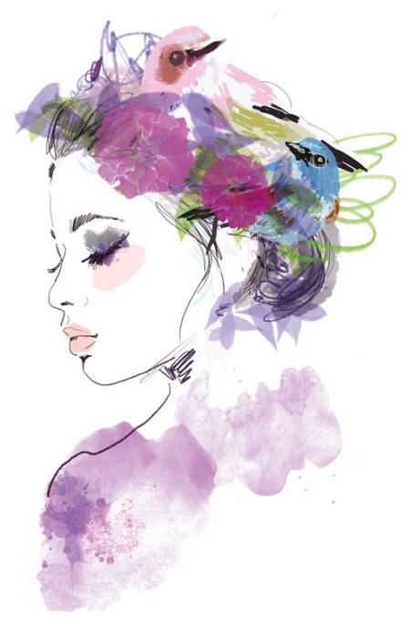 Profil graphique champêtre et poétique