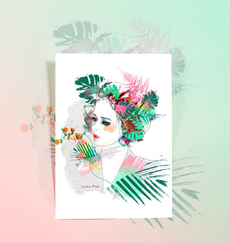 illustration portrait végétal