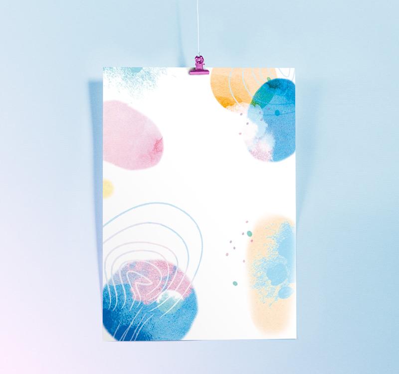 motif aquarelle frais et leger