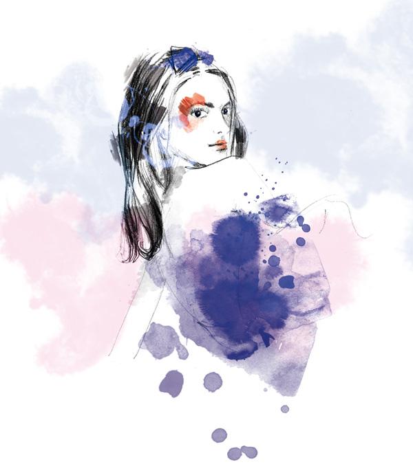 aquarelle et crayonné