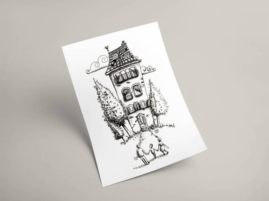 affiche maison
