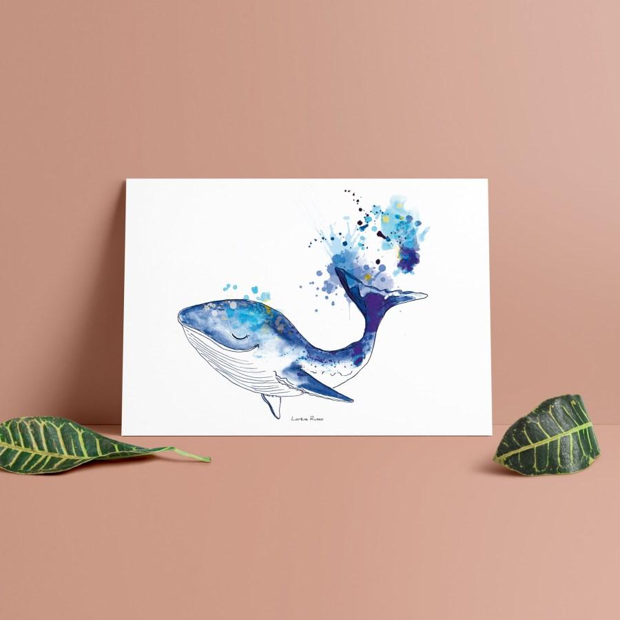 affiche decorative chambre enfant baleine