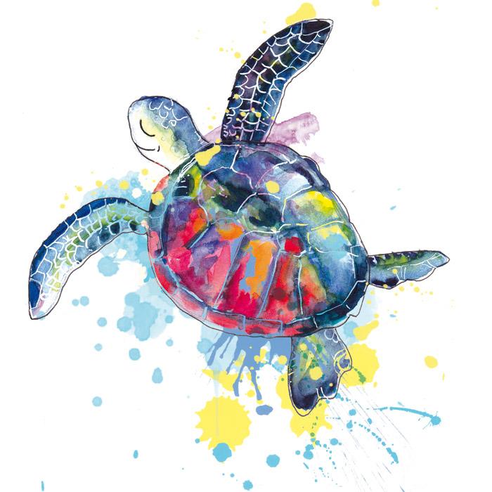 illustration tortue de mer aquarelle