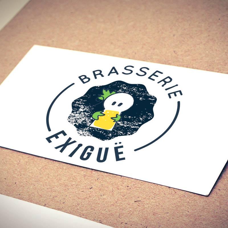 conception logo de biere brasserie de exigue